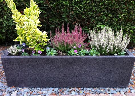 large garden pots and containers planters fibreglass planters modern trough large