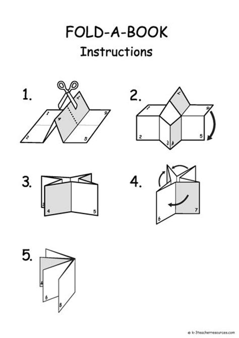 How To Fold Paper Into A Book - printable and editable folding book template