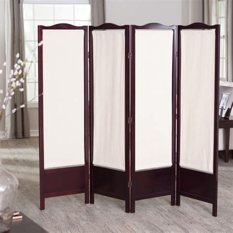 Canvas Room Divider Canvas 4 Panel Room Divider Rosewood Modern Screens And Room Dividers By Hayneedle