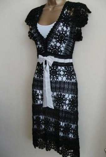 Maxi Dress Dress Motif crinochet free maxi dress with circle motif and other runway crochet pieces