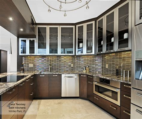 modern walnut kitchen cabinets vallandi com design and tarin slab cabinet doors omega cabinetry