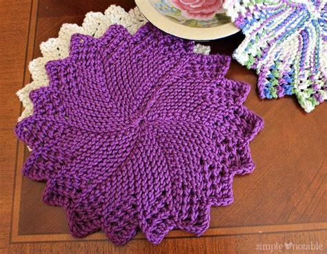 pattern knitted dishcloth sunburst dishcloth knitting pattern simplynotable com
