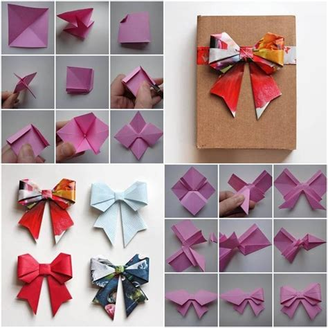 How To Make Bows Out Of Wrapping Paper - best 25 origami bow ideas on origami paper