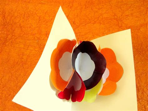 how to make a pop up flower card how to make a pop up flower greeting card with pictures