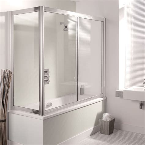 Over Bath Sliding Shower Screens Simpsons Supreme 1700mm Overbath Slider