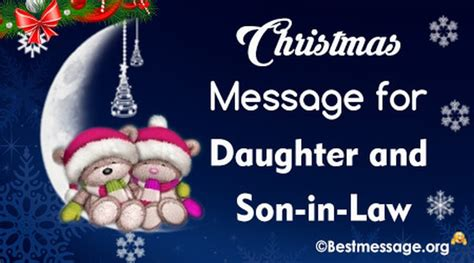 short merry christmas text messages   daughter  son  law  message