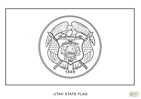 coloring pages utah utah state flag coloring page free printable coloring pages