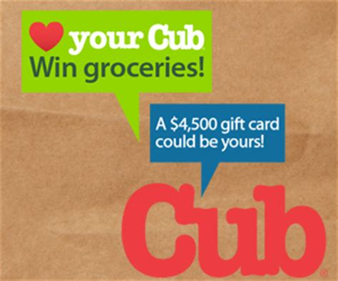 Cub Foods Gift Card - love your cub contest 4 500 cub gift card sweepstakes young adult money