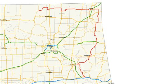 road map of oklahoma and texas odot 2007 highway map central oklahoma current oklahoma state highway map current oklahoma