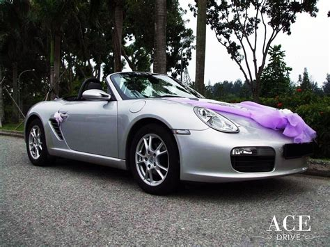 pink porsche convertible porsche boxster convertible wedding car decorations