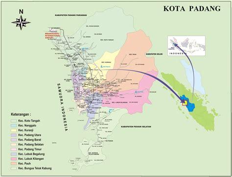 Padang Kota Tercinta peta kota peta kota padang
