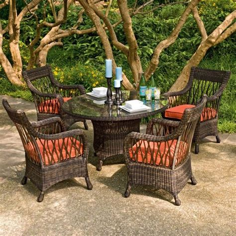 backyard table set wicker outdoor dining table and chair set