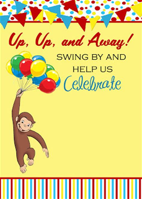 curious george invitation template the fast freebie friday curious george