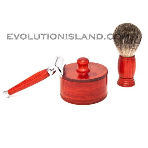 Handmade Safety Razor - de safety razor handmade with orange pakkawood handle