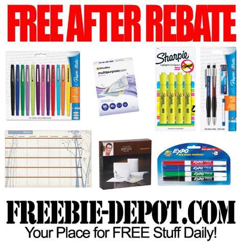 free after rebate back to school supplies freebie depot