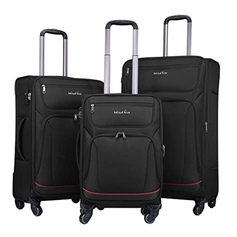 amazon com hybrid travel 3 piece luggage set durable lightweight windtook 3 piece expandable luggage set spinner carry on