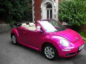 new pink cars get it in pink everything pink pink volkswagen beetle cars
