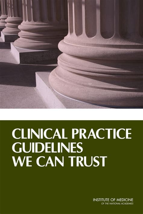 clinical practice guidelines   trust  national academies press