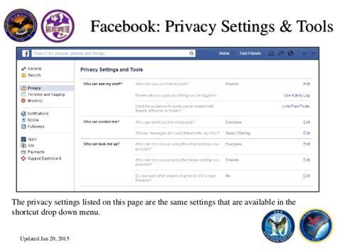 fb login facebook fb privacy settings jan 2015