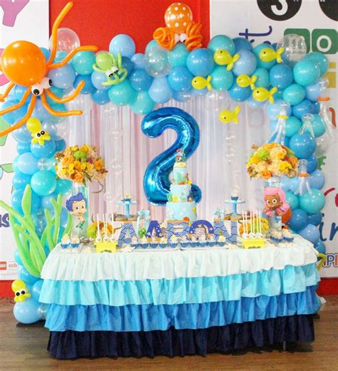 2nd birthday decorations at home bubble guppies birthday party ideas photo 9 of 34