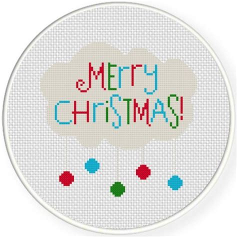 merry christmas cross stitch pattern daily cross stitch