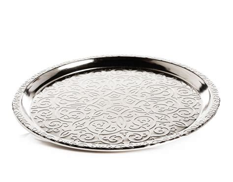Silver Ottoman Tray Silver Plated Large Ottoman Serving Tray 35 Cm Fairturk