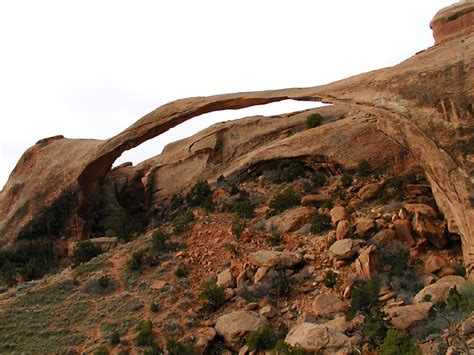 Landscape Arch Fell Climbing And Sightseeing In Utah