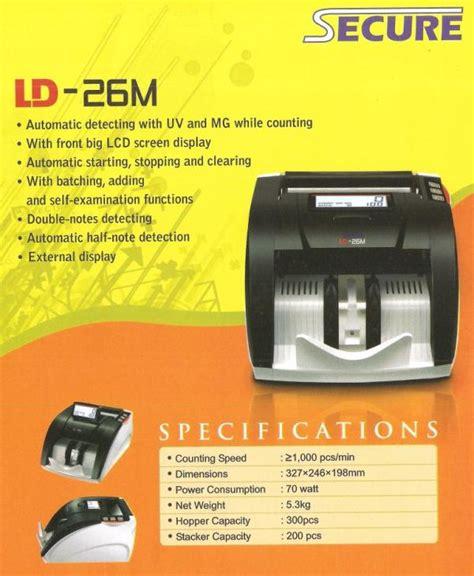 Secure Ld 20a Mesin Hitung Uang Penghitung Uang Money Counter 1 mesin hitung uang dan pendeteksi uang palsu secure ld 26m