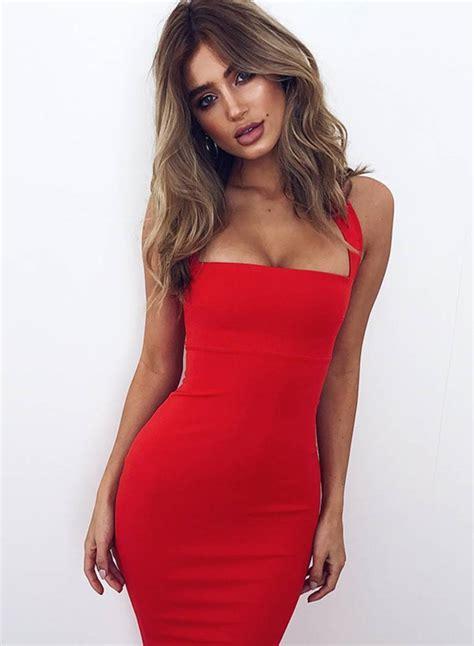 Sleeveless Mini Midi Dress s fashion halter sleeveless bodycon midi dress