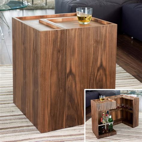 Mini Bar Table Imbibe Mini Bar Side Table Walnut Modern Indoor Bistro Tables By Dwell