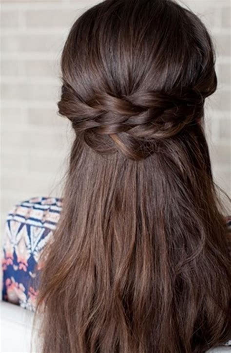 hairstyles for straight hair diy romantic diy braided half up bridal hairstyle