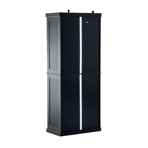 black kitchen storage cabinet homcom colonial storage cabinet kitchen pantry black