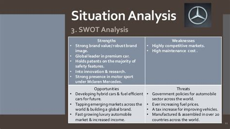 situation analysis template mercedes mkt plan farooq fernas