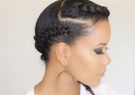 Side Swept Hairstyles For Black | side swept braids hairstyle for black women