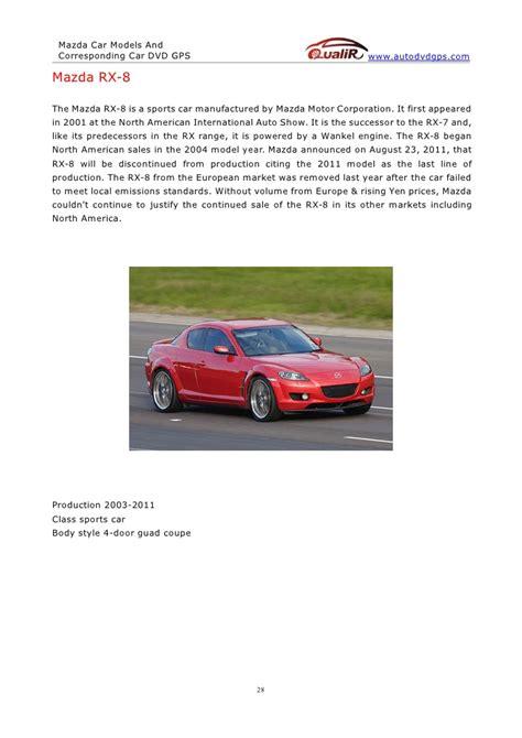mazda sports car models mazda car models and corresponding car dvd gps