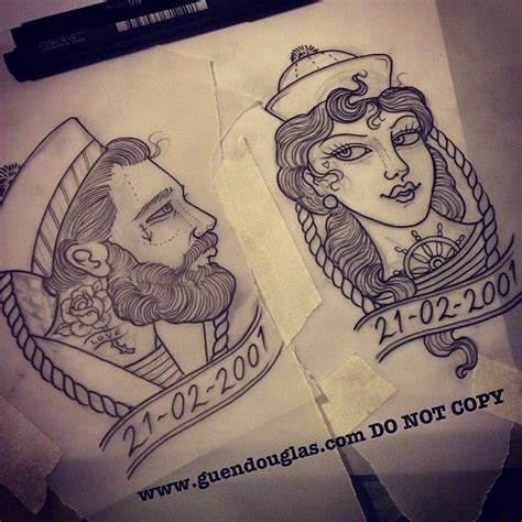 sailor couple tattoo 30 matching ideas for couples sailor mermaid and