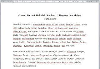 format makalah untuk seminar contoh format makalah seminar i magang dan skripsi mahasiswa