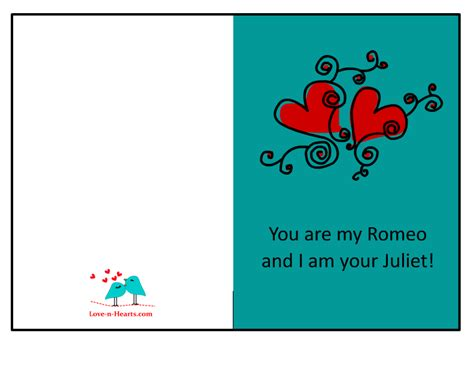 printable birthday cards for my love 7 best images of printable cards for him romantic free