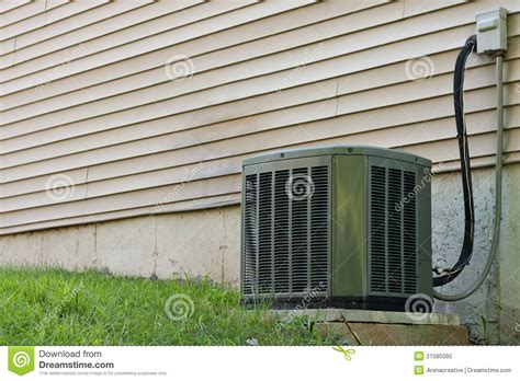 Ac Central residential central air conditioner unit royalty free