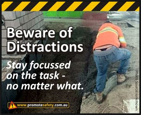 funny workplace meme about distractions in construction