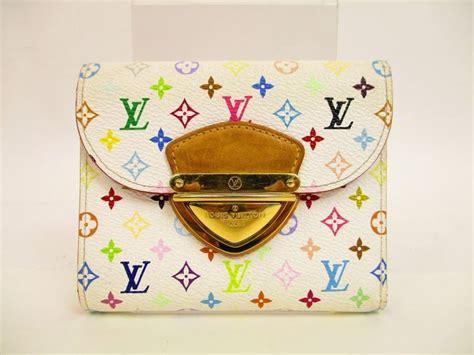 Branded Mug Lv Multicolor authentic louis vuitton multi color white leather bifold wallet koala 4481 ebay