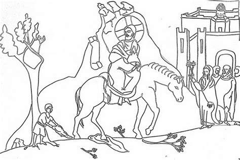 coloring page of jesus on palm sunday coloring page jesus triumphal entry into jerusalem palm