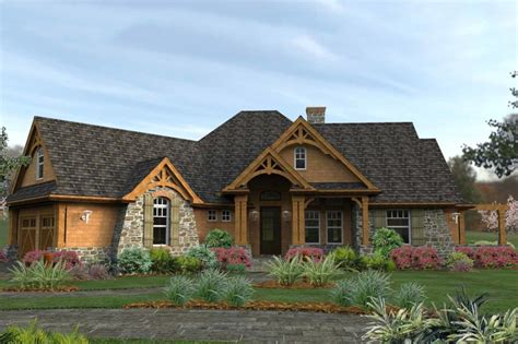 craftsman style house plan 3 beds 2 5 baths 2091 sq ft