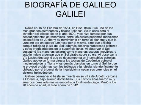 biografia de galileo galilei descubrimientos e historia de biograf 237 a de galileo galilei power