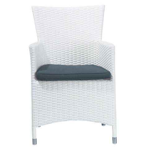 white wicker armchair wicker garden armchair in white antibes maisons du monde