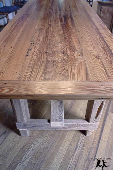 reclaimed wood table top diy reclaimed pine farmhouse table diy part 5