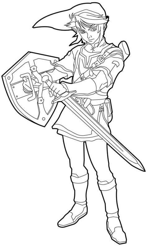 zelda cartoon coloring pages