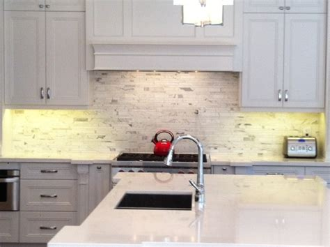 Nantucket Kitchens by Backsplash Calacatta Oro Tuscany Mosaic
