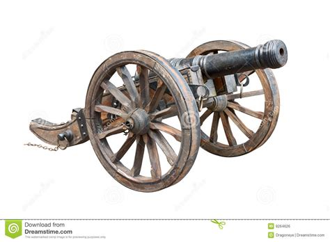 old cannon cutout stock photo image of white wheel