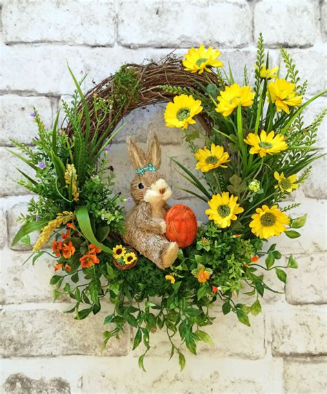 grapevine floral design home decor the spring wreath bunny wreath front door wreath silk floral